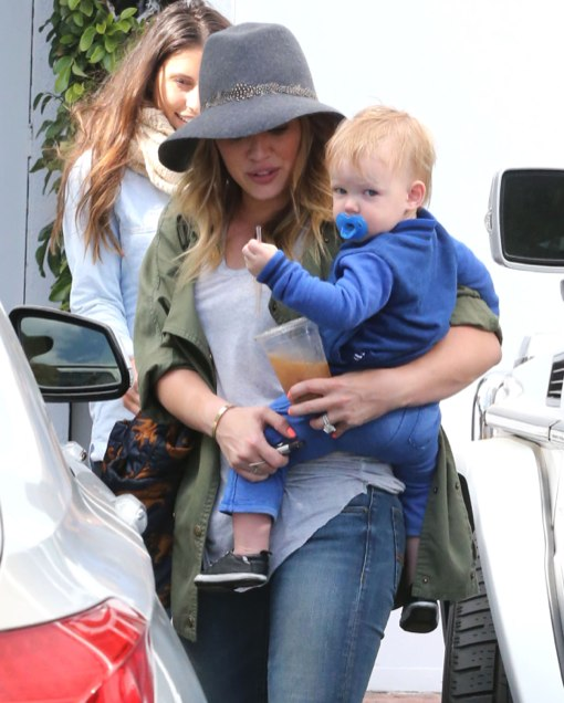 Hilary Duff & Son Luca Shopping At Fred Segal
