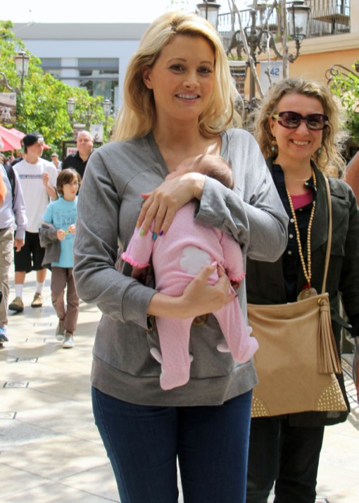Holly Madison & Baby Rainbow At The Grove