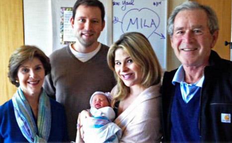 Jenna Bush Hager Debuts Newborn Daughter Mila