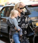 Kate Hudson & Son Bingham Out In New York