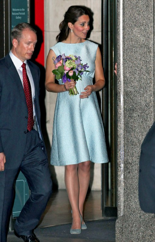 Kate Middleton Stuns In Baby Blue Dress