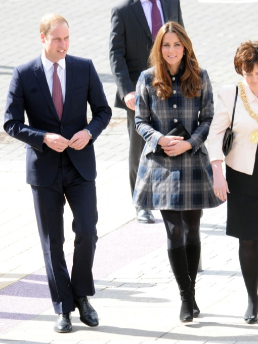 Prince William & A Pregnant Kate Middleton Kick off Scottish Tour