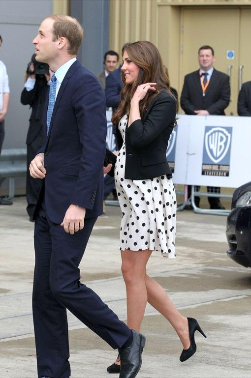 Prince William & Pregnant Kate Visit Warner Bros. Studio