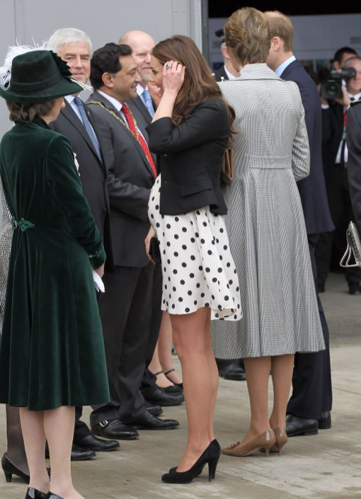 Kate Middleton Bumps In Polka-Dot Dress