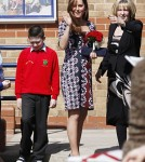 Kate Middleton Visits Willows Primary School