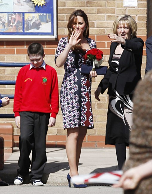 Kate Middleton Shows Off Her Blossoming Bump