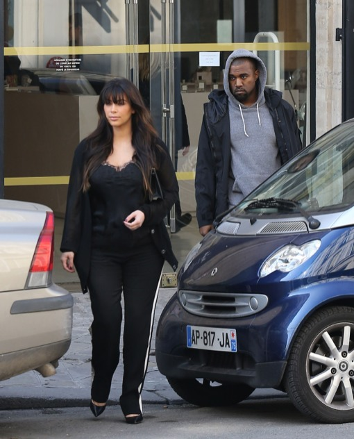 Kim Kardashian & Kanye West Enjoy Easter Weekend Paris Getaway
