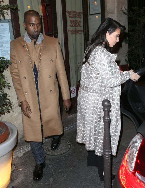 Kim Kardashian & Kanye West Enjoy Easter Weekend Paris Getaway