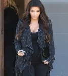 Pregnant Kim Kardashian Steps Out In West Hollywood