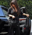 Pregnant Kim Kardashian Out For Lunch At Cecconi's
