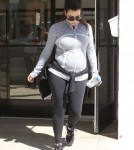 Pregnant Kim Kardashian Works It Out