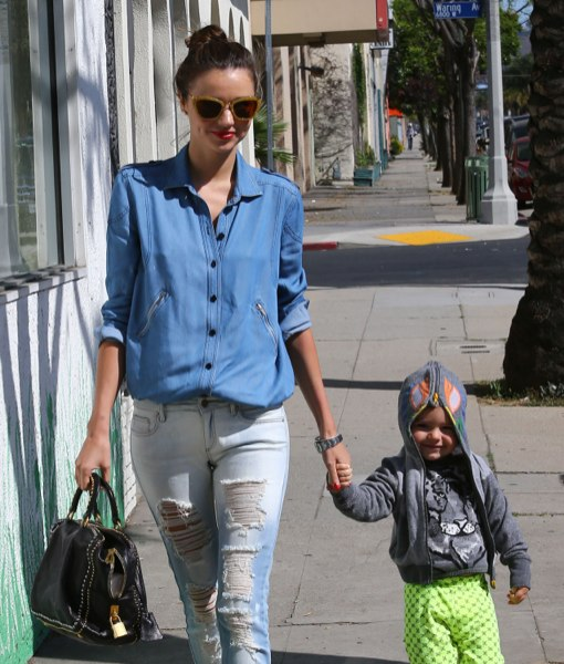 Miranda Kerr & Flynn Head To an Indoor Playground