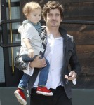 Exclusive... Father Son Bonding Day for Orlando Bloom and Flynn