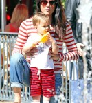 Semi-Exclusive... Selma Blair & Son Arthur Enjoy A Day At The Grove