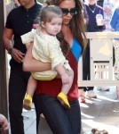 Victoria Beckham Takes Her Family To Lunch In LA