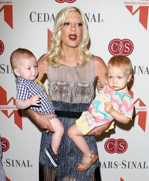 Tori Spelling & Her Children At The Helping Hand Of LA Annual Mother's Day Luncheon (Photos)