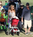 Charlie Sheen And Denise Richards Enjoy Sam's Soccer Game