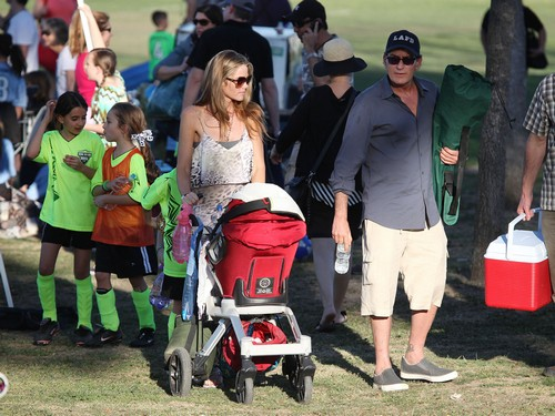 Denise Richards is Happy to Raise Charlie Sheen's Other Kids