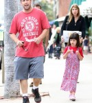 Semi-Exclusive... Adam Sandler & Daughter Out For Dinner In Pacific Palisades