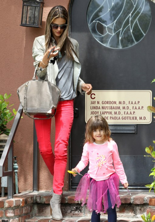 Alessandra Ambrosio Takes Anja For a Check-Up