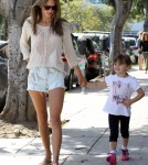 Alessandra Ambrosio Has A Busy Day In Santa Monica