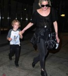 Ashlee Simpson & Son Bronx Arriving On A Flight In New York