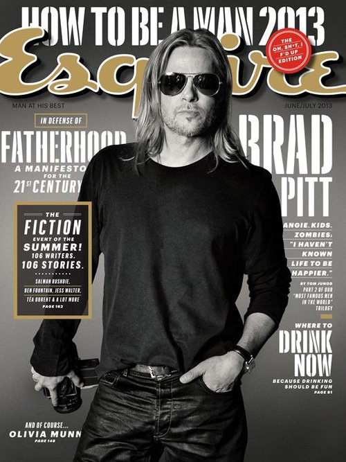 "Brad Pitt: ""I Haven't Known Life To Be Any Happier."""