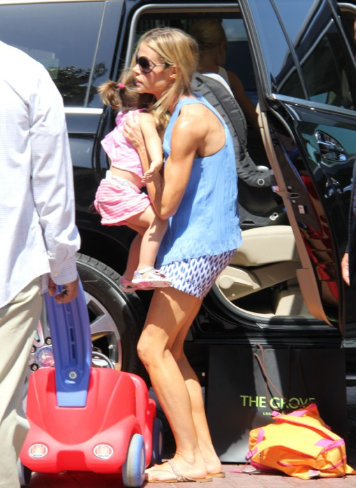 Denise Richards Takes Her Girls To The Grove