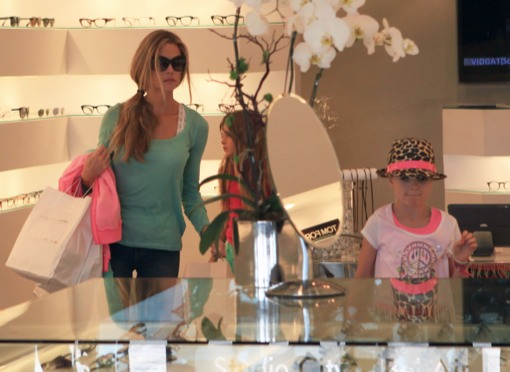 Denise Richards Spends The Day With Her Girls