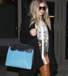 Fergie Arriving On A Flight At LAX