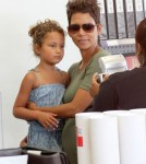 Pregnant Halle Berry Takes Nahla To Get Her Passport Photo