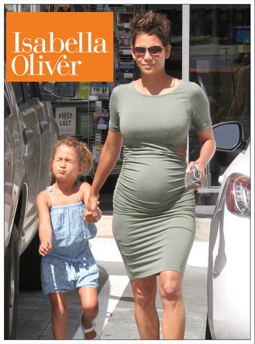 Maternity Style: Halle Berry Wears Isabella Oliver