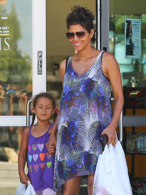 Halle Berry & Nahla Do Some Mother-Daughter Shopping