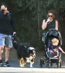 Exclusive... Hilary Duff And Family Out For A Walk
