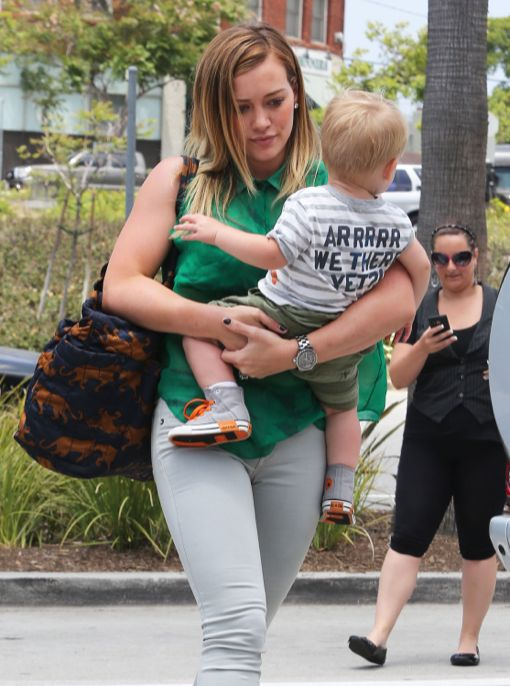 Hilary Duff & Luca: Wednesday Shoppers