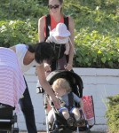 Exclusive... Jacqui Ainsley Takes Her Kids For A Stroll In Beverly Hills
