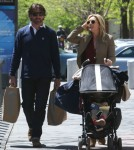 Jane Krakowski And Family Pick Up Gorceries In Tribeca