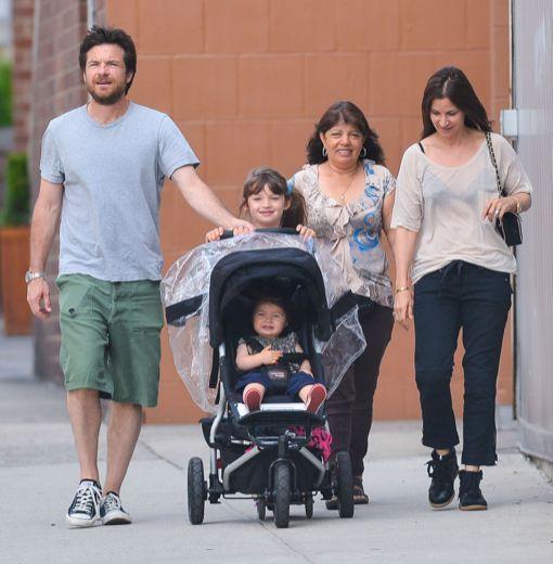 Jason Bateman & Family At The Hudson River Park