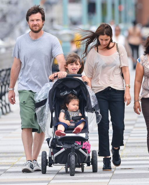 Jason Bateman Amp Family At The Hudson River Park Celeb