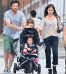 Jason Bateman & Family At The Hudson River Park