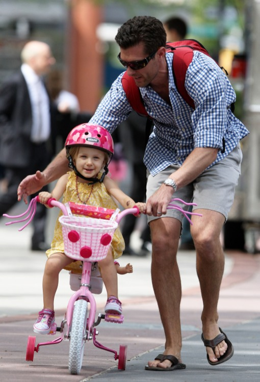 Jason Hoppy Teaches Bryn How To Ride a Bike