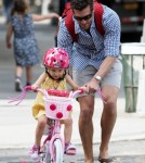 Jason Hoppy Takes His Daughter Bryn For A Bike Ride