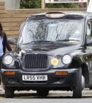 Pregnant Jenna Tatum Catches A Taxi