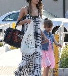Jessica Alba And Honor Out And About In West Hollywood