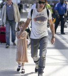 Keith Urban and Sunday Rose Departing On a Flight At LAX