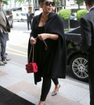 Kim Kardashian & Kris Jenner Lunch In Paris