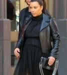 Pregnant Kim Kardashian Has Lunch with Jonathan Cheban in NYC