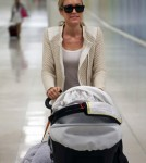 Kristin Cavallari Arriving On A Flight At LAX