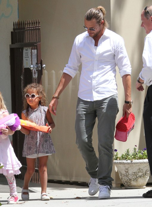 Gabriel Aubry Makes The School Run