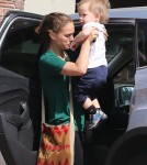 Natalie Portman & Aleph Stop By A Friend's House